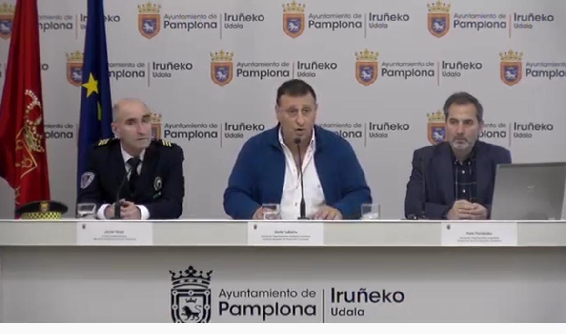 Presentación del nuevo plan de seguridad vial de Pamplona