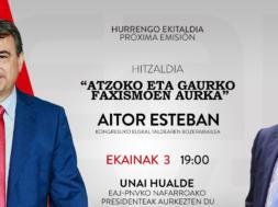 (8704) Aitor Esteban – Hitzaldia – Atzoko eta gaurko faxismoen aurka – YouTube – Google Chrome 03_06_2021 11_30_25